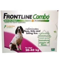 Frontline Combo Cão - dos 20 aos 40kg (1 Caixa - 3 Pipetas)