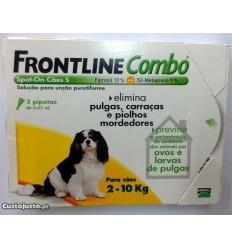 Frontline Combo Cão - até 10kg (1caixa - 3 pipetas)