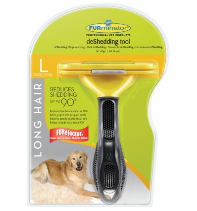 Furminator Escova Cães Raça Grande Pêlo Longo ( + 5cm) - L