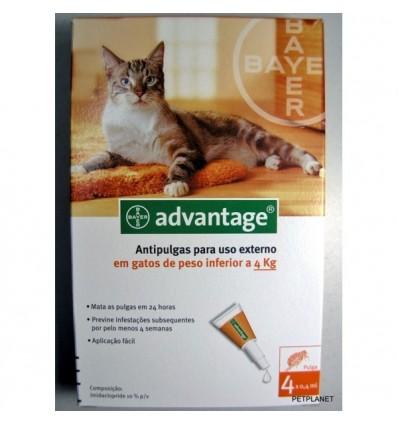 ADVANTAGE 40 para gatos até 4kg - 4 pipetas