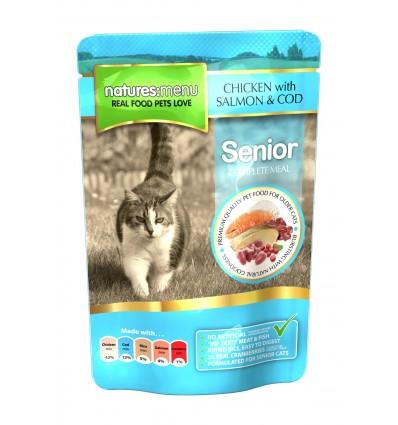 Natures Menu Cat Húmidos Sénior c/ Frango Saqueta 100g