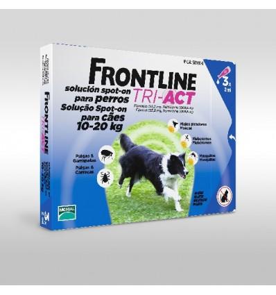 Frontline Tri-Act M Cão 10-20KG - 3 Pipetas