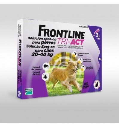 Frontline Tri-Act L Cão 20-40KG - 3 Pipetas
