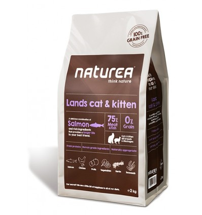 Naturea Lands Cat & Kitten (sem cereais) 2kg