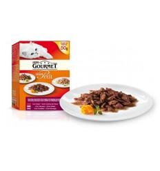 Purina Gourmet Mon Petit Seleção e Carnes 6x50gr