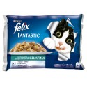 Purina Gatos Húmidos Felix Fantastic Banquete do Mar 4x100gr