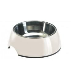 Alimentador/Bebedouro Hunter em Melamina/Inox Branco - XL (1400ml)