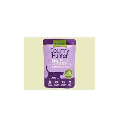 Natures Menu Country Hunter Gatos Húmidos c/ Perú e Coelho Saqueta 85Gr