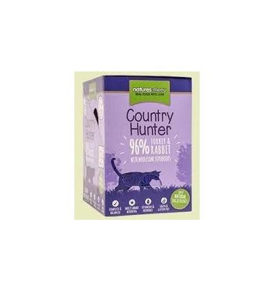 Natures Menu Country Hunter Cat com Perú e Coelho Pack 6x85Gr