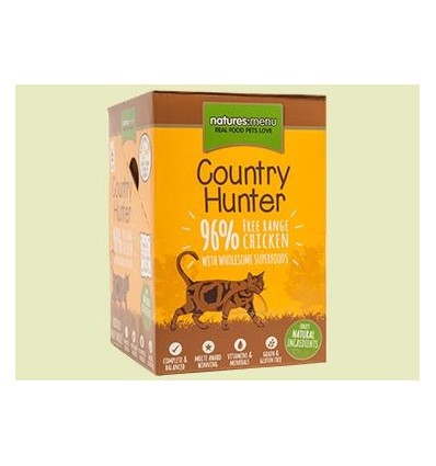 Natures Menu Country Hunter Gatos Húmidos c/ Frango Pack 6x85Gr