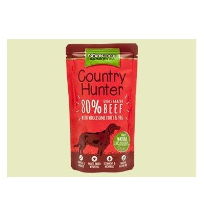Natures Menu Country Hunter Cão Húmidos c/ Carne Vaca Saqueta 150gr