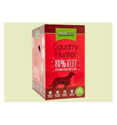 Natures Menu Country Hunter Cão Húmidos c/ Carne Vaca Pack 6x150gr