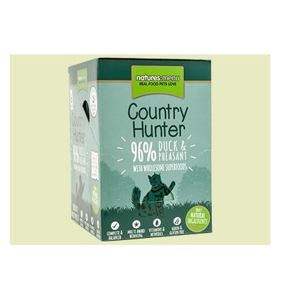 Natures Menu Country Hunter Gatos Húmidos c/ Pato e Faisão Pack 6x85Gr