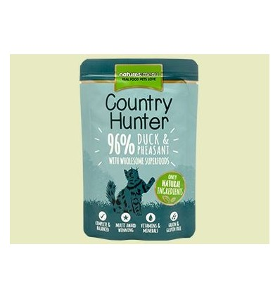 Natures Menu Country Hunter Gatos Húmidos c/ Pato e Faisão Saqueta 85Gr