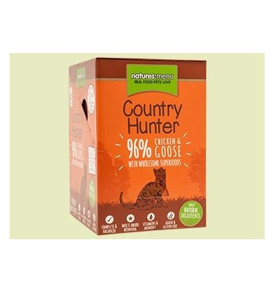 Natures Menu Country Hunter Gatos Húmidos c/ Frango e Ganso Pack 6x 85Gr