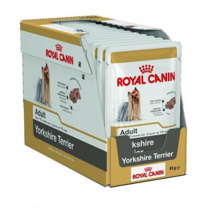 Royal Canin Yorkshire Terrier Adult Húmidos Saqueta 12x85g