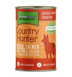 Natures Menu Country Hunter Dog com Salmão e Frango Lata 400gr