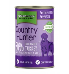 Natures Menu Country Hunter Dog com Perú Lata 400gr