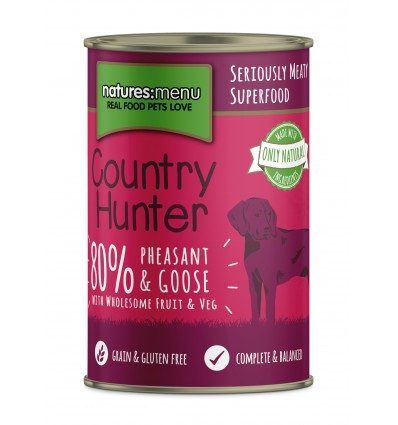 Natures Menu Country Hunter Cão Húmidos c/ Faisão e Ganso Lata 400gr