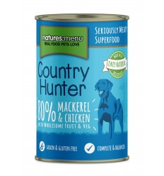 Natures Menu Country Hunter Dog com Cavala e frango Lata 400gr