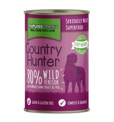 Natures Menu Country Hunter Dog com Veado Lata 6x400g