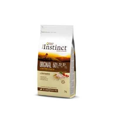 Instinct Dog Médium/Máxi Júnior Frango 2kg