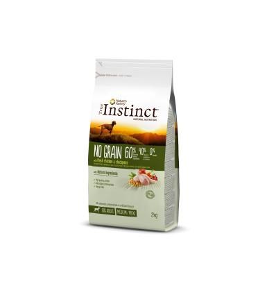 Instinct Dog No Grain Medium/Máxi Adult Frango 2kg