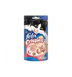 Purina Snacks Felix Crispies Salmão e Truta 45g