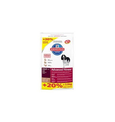Hill's Science Plan Canine Medium Adult Frango 12kg + 2,5kg OFERTA