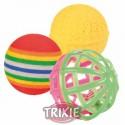 Brinquedo Trixie Bolas p/ Gatos Conj. 3