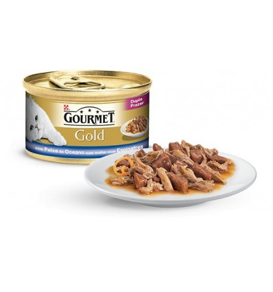 Purina Gourmet Gold Duplo Prazer Peixe do Oceano 85gr