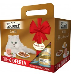 Purina Gourmet Gold Mousse Pack 18 + 6 OFERTA (85 gr)
