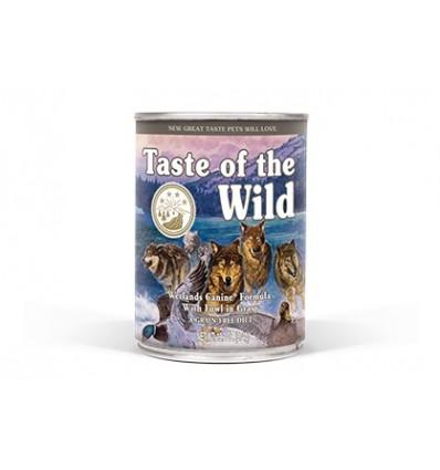 Taste of The Wild Cão Adulto Húmidos Wetlands C/ Pato Assado lata 390 gr