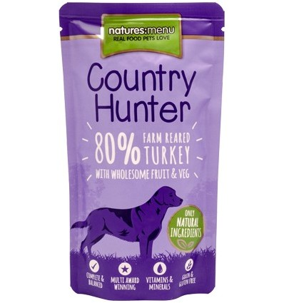 Natures Menu Country Hunter Cão Húmidos c/ Carne Peru Saqueta 150Gr