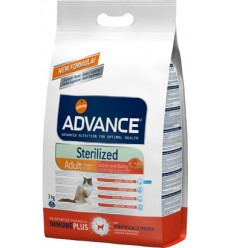 Advance Gato Adulto Sterilised Salmão/Cevada 10Kg
