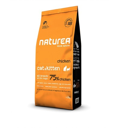Naturea Naturals Cat & Kitten (sem cereais) Chicken 7kg