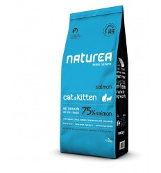 Naturea Naturals Cat & Kitten (sem cereais) Salmão 7kg