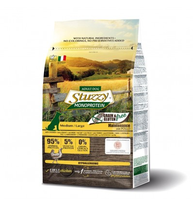 Stuzzy Monoprotein Grain & Gluten Free Medium Large Frango 3kg