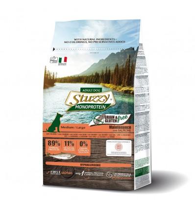 Stuzzy Monoprotein Grain & Gluten Free Adult Medium Large Salmão 12kg