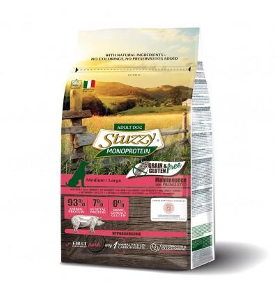 Stuzzy Monoprotein Grain & Gluten Free Adult Medium Large Porco 3kg