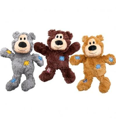 Brinquedo Kong Peluche Wild Knots Urso Dourado - XL (33,5 cm)