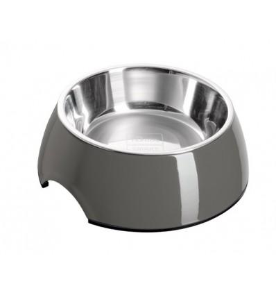 Alimentador/Bebedouro Hunter Melamina/Inox Cinza - M (350 ml)