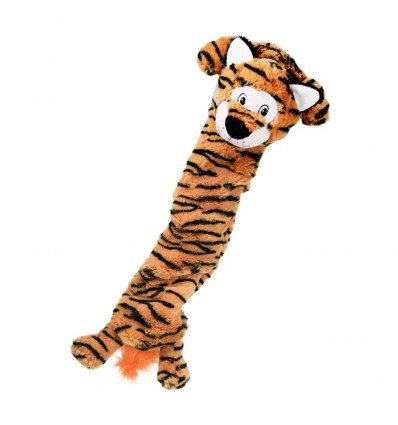 Brinquedo Kong Peluche Elástico Jumbo Stretchezz c/ som Tigre - XL (75 cm)