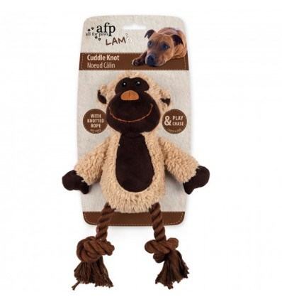 Brinquedo AFP Peluche p/ Cão c/ Corda Dental Macaco (31 cm)