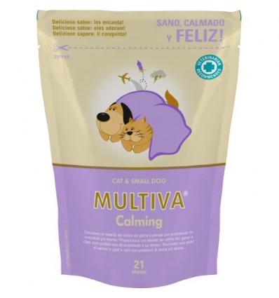 Suplemento Nutricional Anti-Stress Multiva Calming Gatos e Cães Pequenos