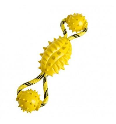 Brinquedo Hunter p/ Cão Bolas Picos c/ Corda (30 cm)