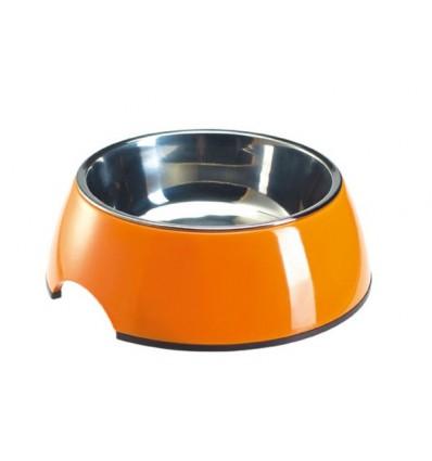 Alimentador/Bebedouro Hunter Melamina/Inox Laranja - M (350 ml)
