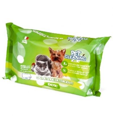 Pet Cleaning Toalhitas de Limpeza Exotic p/ Cão e Gato 40 uni..