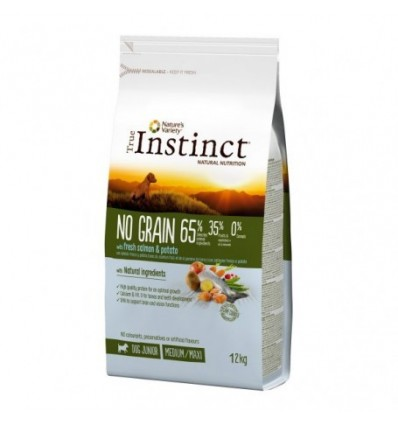 Instinct Dog No Grain Medium/Máxi Puppy Salmão 2kg