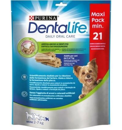 PURINA DentaLife Snacks Mini 2-7kg (maxi pack 21 sticks)